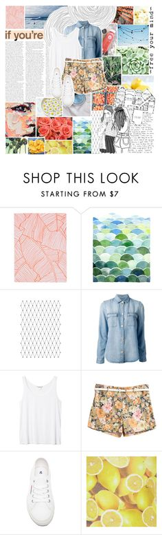 """free your mind"" by vanessadxy ❤ liked on Polyvore featuring Topshop, Nicole Miller, Prada, 7 For All Mankind, Monki, Superga and Alice + Olivia"