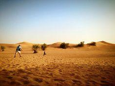 Out in the desert. Dubai, EAU.