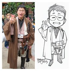 Chibi Style Tired Jedi Commission by Banzchan Robert De Jesus on deviantART