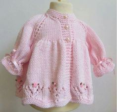 "Conjunto de bebé de algodón de punto a mano por jayceeoriginals [ ""Hand Knit Cotton Baby Set by jayceeoriginals on Etsy"", ""Bebe Yeleği, baby waistcoat, b"" ] # # # # # # # # # Baby Knitting Patterns, Crochet Baby Dress Pattern, Baby Dress Patterns, Hand Knitting, Knitting Ideas, Baby Pullover, Baby Cardigan, Cardigan Pattern, Pull Bebe"