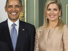 Queen Maxima of the Netherlands and President Obama