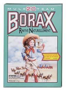 30 uses for borax (ex. mix one part borax with 5 parts water and use as a shampoo to clean your hair and it works as a conditioner, softening your hair and removing gunk build-up!)