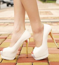 Peep Toe Platform Pumps High Heel Shoes