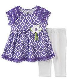 Kids Headquarters 2-Pc. Floral-Print Tunic & Capri Pants Set, Little Girls (2-6X)