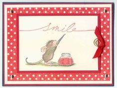 House Mouse Smiles by pugs99 - Cards and Paper Crafts at Splitcoaststampers stamp- amanda writes