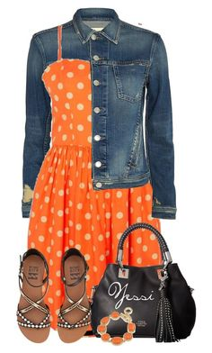 """~ 💕 Orange Dress 💕 ~"" by pretty-fashion-designs ❤ liked on Polyvore featuring L'Agence, Jeremy Scott, Vince Camuto, Billabong and 1st & Gorgeous by Carolee"
