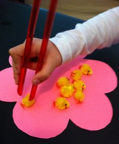Recommendations from an OT on incorporating fine motor skills into your classroom. Autism Activities, Easter Activities, Spring Activities, Motor Activities, Fine Motor Skills Development, Gross Motor Skills, Preschool Themes, Preschool Crafts, Spring Theme