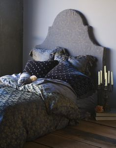 obsessed with upholstered headboards...and bella notte linens