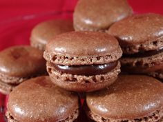 Chocolate Macarons with Nutella Ganache Filling- with yoyomax12