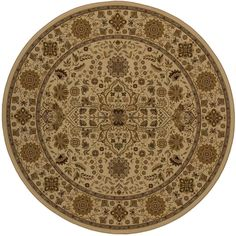 Lovely Ivory 7 ft. 10 in. x 7 ft. 10 in. Round Area Rug