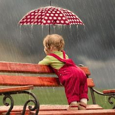 Who's afraid of a little rain????? We need to find our inner child. this looks…