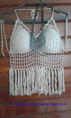 Chart crochet top / bikini -Inspirações de Croche com Any Lucy: Top Cropped - Minha Autoria
