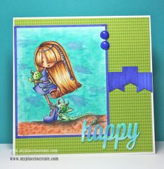 Hello Pet by Tiddly Inks Tiddly Inks, Ink Stamps, I Card, Craft Ideas, Pets, Happy, Crafts, Character, Color