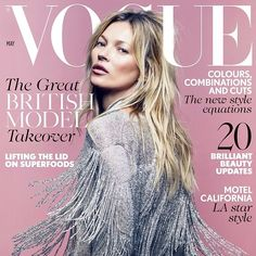 Kate Moss covers the British Vogue May 2014 issue #lovefmd #katemoss #vogue…