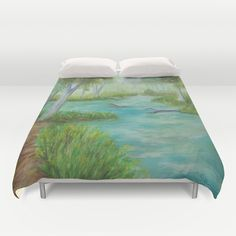 Little Manistee River MM120824a Duvet Cover by CSteenArt | Society6