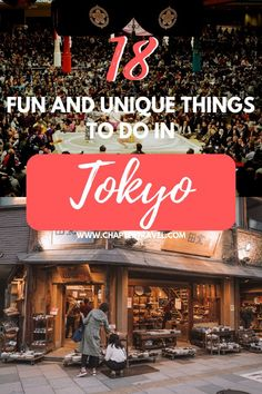 Are you spending time in Tokyo and are you looking for fun activities? Read our post for 18 fun and unique things to do in Tokyo! Japan Travel Guide, Tokyo Travel, Asia Travel, Travel Guides, Tokyo Trip, Japan Trip, Travel Info, Nagoya, Osaka