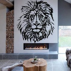 Wall Decal Vinyl Stickers African Wild Lion Pride Animals Home Interior Design Art Office Murals Home Decoration - Edit Listing - Etsy Wall Decals, Wall Vinyl, Wall Art, Wall Sticker, Music Room Art, Office Mural, Wild Lion, Wall Painting Decor, Lion Pride