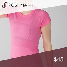 ✨🆕✨{lululemon} Pink Run Swiftly SS Crew Brand new with tags, never been worn. Price is firm.   ❌ NO TRADES - SELLING ON POSH ONLY ❌ ❌ NO LOWBALLING ❌  ✅ Bundle Discounts ✅ Ship Next Day of Purchase  💯 % AUTHENTIC lululemon athletica Tops Tees - Short Sleeve