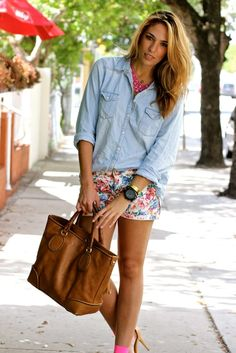Flojean ( Leather Totes & Floral Shorts )