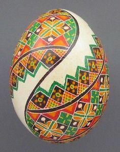 Pysanka Real Ukrainian Easter Egg Hen Chicken Shell Geometric Design Green AB   eBay
