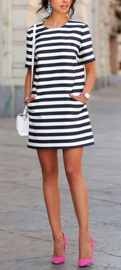 The Best Striped Dress Outfit Ideas For Summer 02