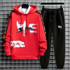 ://lztees.com/product/mens-sets-long-sleeve-hooded-t-shirts-trend-casual-harajuku-sportswear-men-fashion-men-clothing-sets/ Mens Clothing Styles, Clothing Sets, Korean Fashion, Fashion Men, Fashion Trends, Tracksuit Set, Man Set, Harajuku, Outfit Sets