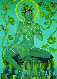 The Green Tara mantra, Om Tare Tuttare Ture Svaha, entreats to the compassion and the guidance that Goddess Tara can offer to devotees. Green Tara Mantra, Tara Goddess, Tibet Art, Esoteric Art, Thai Art, Tibetan Buddhism, Art Google, Sculpture Art, Mandala