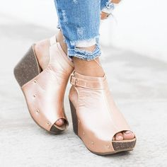 """cfde0d76f24 Shoetopia.com on Instagram  """"The trouble with heels is... I have no balance  🤷🏽 ♀ 😬But  wedges are for ANYONE! Style  MARA-23"""