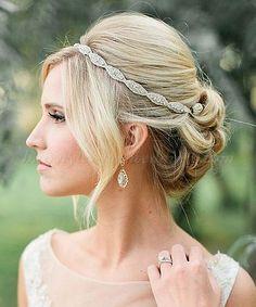 chignon wedding hairstyles, low bun wedding hairstyles - chignon bouffant