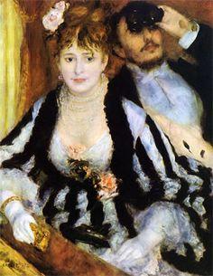 The Theater Box (La Loge) by Pierre-Auguste Renoir