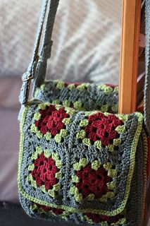 Free Granny Square Pattern - Messenger Bag by Judith L. Swartz. One of 8 granny square patterns in a free e-book from CrochetMe. Free registration required to download.
