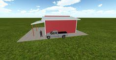 3D #architecture via @themuellerinc http://ift.tt/2mD7VTD #barn #workshop #greenhouse #garage #DIY