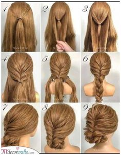 Easy Formal Hairstyles, Easy Updos For Medium Hair, Night Hairstyles, Evening Hairstyles, Simple Wedding Hairstyles, Short Hair Updo, Medium Hair Styles, Curly Hair Styles, Simple Long Hair Updo