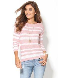 Jersey mujer de rayas rosa