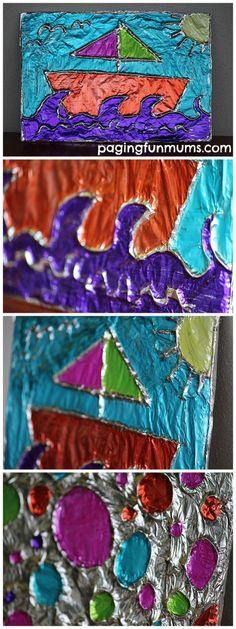 Amazing Tin Foil Art - FUN for Kids!