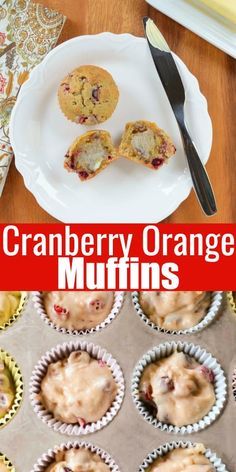 Orange Cranberry Muffin recipe from scratch. An easy moist muffin perfect for Christmas morning, brunch or breakfast from Serena Bakes Simply From Scratch. Orange Bundt Cake, Cranberry Orange Muffins, Types Of Bread, Dairy Free Options, Recipe From Scratch, Bread Rolls, Quick Bread, Christmas Morning, Muffin Recipes