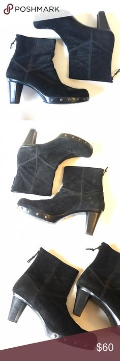 Stuart Weitzman Boots Black boots by Stuart Weitzman. Some light marks on boots from storage (shown in photos - still great condition - price reflects small damage). Souls are in perfect condition! #K107 Stuart Weitzman Shoes Ankle Boots & Booties