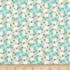 Joel Dewberry Birch Farm Prism Egg Blue from @fabricdotcom  Designed by Joel Dewberry for Free Spirit, this cotton print is perfect for quilting, apparel and home decor accents.  Colors include cream, very light grey, taupe-grey and shades of aqua.