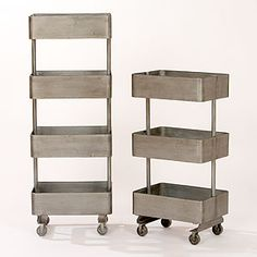 rolling metal storage {just saw this in person and liked it}