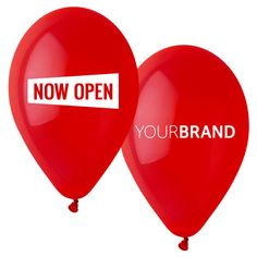 Now Open Balloons Printed With Your Brand Logo. Spot Colour Printing or Full Colour HD Printing in CMYK. Print Up to 4 Sides, Same or Different Designs!  Maximise Your Store Opening #printedballoons #brandedballoons #promotionalballoons #printed #balloons #promotions #promotional #products #branding #sale #retail #awareness #opening #ceremony