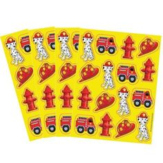 Firefighter Stickers 4 Sheets