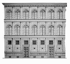 Palazzo Rucella - Leon Battista Alberti - artwork by Julianna Struck
