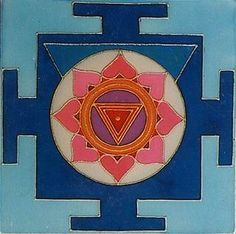 Kali's Yantra. Kali is the destroyer of unreality, of ego.