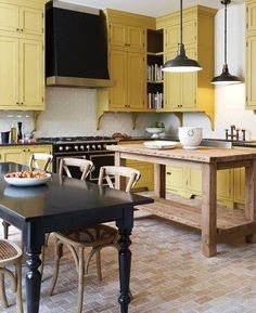 I really like the corbels under the cabinets. The chairs are great, too....Restoration Hardware, I believe....