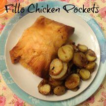 Phyllo chicken pockets