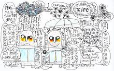 Nicolas da Rocha - 2012. A mi me pasan todas (una cuestion de actitud).  Tinta y lapiz sobre papel A4.
