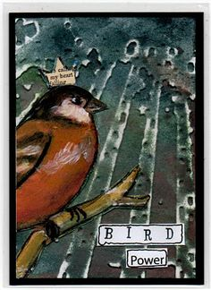The Artist Trading Card Club.... 'Swap 'til You Drop': AN UPDATE plus My ATC's for March challenge and the bird showcase.
