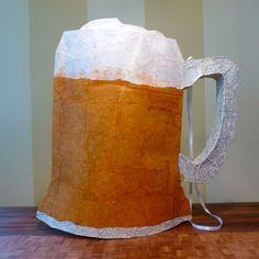 Frosty Mug O' Beer Piñata - Contemporary Handmade Piñata (Ready to Ship right to your Grad/ Dad)).
