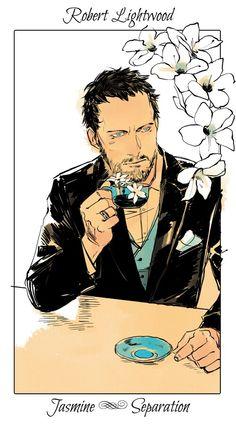 Robert ~ The Mortal Instruments flower cards by Cassandra Jean