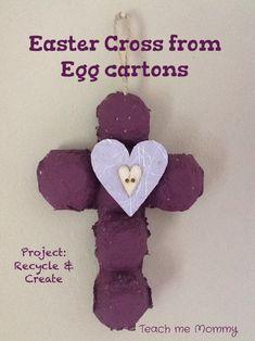 Easter Cross from Egg cartons